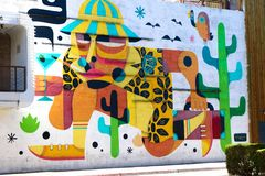 Τοιχογραφία στο στο κέντρο της πόλης Λας Βέγκας Στοκ Εικόνες