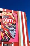 Τοιχογραφία στο στο κέντρο της πόλης Λας Βέγκας Στοκ εικόνα με δικαίωμα ελεύθερης χρήσης