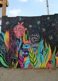 Τοιχογραφία στο κόκκινο τμήμα γάντζων του Μπρούκλιν Στοκ Εικόνες