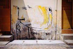 Τοιχογραφία τέχνης οδών στην Τζωρτζτάουν Στοκ Εικόνες