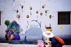 Τοιχογραφία τέχνης οδών στην Τζωρτζτάουν Στοκ φωτογραφία με δικαίωμα ελεύθερης χρήσης