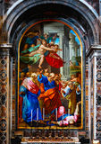 Τοιχογραφία της βασιλικής Αγίου Peter Στοκ φωτογραφίες με δικαίωμα ελεύθερης χρήσης