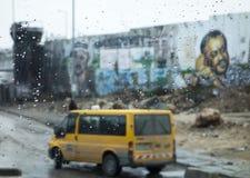 Τοιχογραφία της Δυτικής Όχθης μέσω του παραθύρου Στοκ εικόνα με δικαίωμα ελεύθερης χρήσης