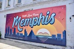 Τοιχογραφία της Μέμφιδας, Με αγάπη από Μέμφιδα στοκ εικόνα με δικαίωμα ελεύθερης χρήσης