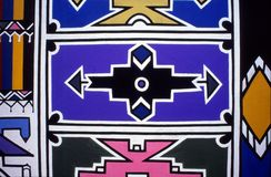 Τοιχογραφία τοίχων Ndebele Στοκ φωτογραφίες με δικαίωμα ελεύθερης χρήσης