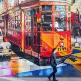 Τοιχογραφία του καλλιτέχνη Kobra στο Μανχάταν, NYC Στοκ φωτογραφία με δικαίωμα ελεύθερης χρήσης