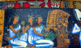 Τοιχογραφία των αιγυπτιακών Θεών στοκ φωτογραφίες με δικαίωμα ελεύθερης χρήσης