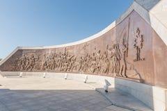 Τοιχογραφία χαλκού στο στρέμμα ηρώων στο Windhoek Στοκ Εικόνα