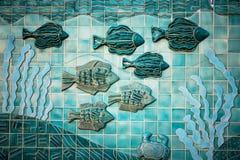 Τοιχογραφία ψαριών Στοκ φωτογραφία με δικαίωμα ελεύθερης χρήσης
