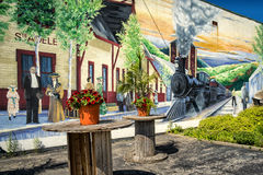 Τοιχογραφία sainte-Adèle Στοκ φωτογραφία με δικαίωμα ελεύθερης χρήσης