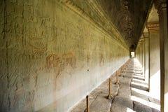 Τοιχογραφία Wat Angkor Στοκ εικόνα με δικαίωμα ελεύθερης χρήσης