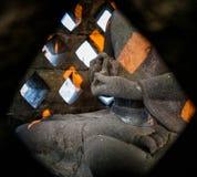 Τοιχογραφίες πετρών τεμαχίων στο ινδονησιακό νησί ναών Borobudur της Ιάβας Στοκ Εικόνα