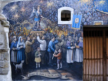 Τοιχογραφίες σε μια μικρή πόλη της Ιταλίας Στοκ φωτογραφίες με δικαίωμα ελεύθερης χρήσης
