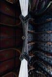 Τοιχογραφίες στο ανώτατο όριο με τις μαρμάρινες στήλες - εγκαταλειμμένη εκκλησία - Νέα Υόρκη Στοκ φωτογραφία με δικαίωμα ελεύθερης χρήσης