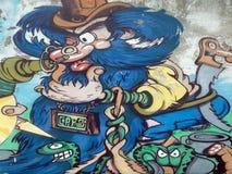 Τοιχογραφίες τοίχων στη Νάπολη Ιταλία Στοκ εικόνα με δικαίωμα ελεύθερης χρήσης