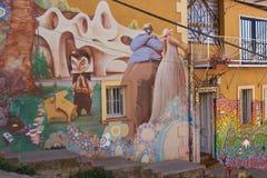Τοιχογραφίες Valparaiso Στοκ εικόνα με δικαίωμα ελεύθερης χρήσης