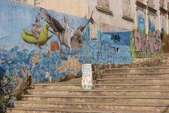 Τοιχογραφίες Valparaiso Στοκ εικόνες με δικαίωμα ελεύθερης χρήσης
