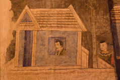 Τοιχογραφίες Wat Phumin Στοκ φωτογραφία με δικαίωμα ελεύθερης χρήσης