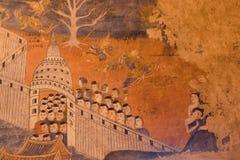 Τοιχογραφίες Wat Phumin Στοκ Εικόνες