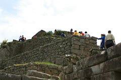 Τοιχοποιία Picchu Machu Στοκ Φωτογραφία