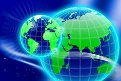 Τοκετός του νέου παγκόσμιου δικτύου απεικόνιση αποθεμάτων