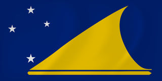 Τοκελάου που κυματίζει τη σημαία Στοκ φωτογραφίες με δικαίωμα ελεύθερης χρήσης