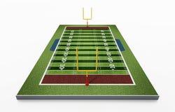 Τομέας αμερικανικού ποδοσφαίρου που απομονώνεται στο άσπρο υπόβαθρο τρισδιάστατη απεικόνιση Στοκ Φωτογραφία