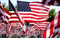 Τομέας αμερικανικών σημαιών Στοκ Εικόνες