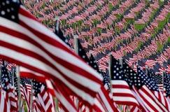 Τομέας αμερικανικών σημαιών Στοκ φωτογραφία με δικαίωμα ελεύθερης χρήσης