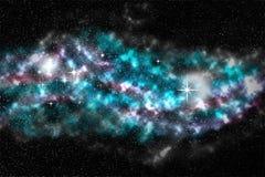 Τομέας αστεριών, ζωηρόχρωμο νεφέλωμα, διαστημικό υπόβαθρο Στοκ Εικόνες