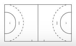 Τομέας για το χάντμπολ Περίληψη του τομέα χάντμπολ γραμμών απεικόνιση αποθεμάτων