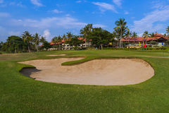 Τομέας γκολφ κοντά στο ναό μερών Tanah - Μπαλί Ινδονησία Στοκ Εικόνα