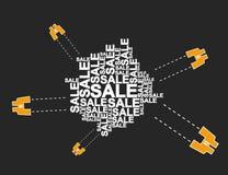 Τομέας-γυαλί των πωλήσεων Στοκ εικόνες με δικαίωμα ελεύθερης χρήσης