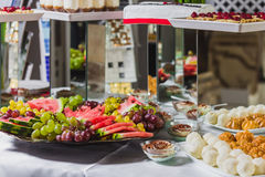 Τομέας εστιάσεως και τρόφιμα για το γάμο και τα γεγονότα Στοκ Εικόνες