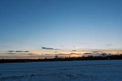 Τομέας ηλιοβασιλέματος Στοκ Φωτογραφία