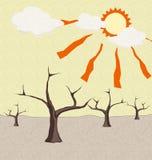 Τομέας ξηρασίας στη θερινή εποχή. Στοκ φωτογραφία με δικαίωμα ελεύθερης χρήσης