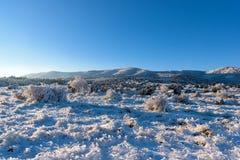 Τομέας τοπίων χειμερινού μπλε ουρανού με το βουνό Στοκ εικόνες με δικαίωμα ελεύθερης χρήσης