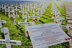 Τομέας των σταυρών για την ημέρα Anzac Στοκ Φωτογραφία