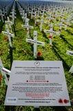 Τομέας των σταυρών για την ημέρα Anzac Στοκ φωτογραφίες με δικαίωμα ελεύθερης χρήσης