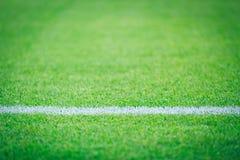 Τομέας χλόης για τον αθλητισμό ποδοσφαίρου Στοκ Φωτογραφίες