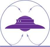 Τομέας Ufo διανυσματική απεικόνιση