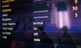 Τομείς επιλογών τοποθετήσεων TV στοκ φωτογραφίες με δικαίωμα ελεύθερης χρήσης