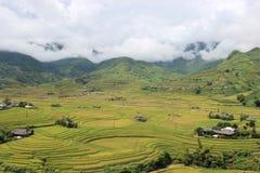 Τομείς πεζουλιών ρυζιού της MU Cang Chai Στοκ φωτογραφία με δικαίωμα ελεύθερης χρήσης