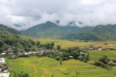 Τομείς πεζουλιών ρυζιού της MU Cang Chai Στοκ εικόνες με δικαίωμα ελεύθερης χρήσης