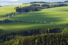 Τομείς στην τσεχική επαρχία Στοκ φωτογραφία με δικαίωμα ελεύθερης χρήσης