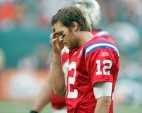 Τομ Μπράντι στη δράση NFL στοκ εικόνες