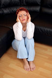 τονισμένη γυναίκα Στοκ Φωτογραφίες