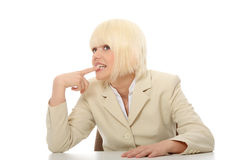 τονισμένη επιχείρηση γυνα Στοκ εικόνα με δικαίωμα ελεύθερης χρήσης