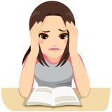 Τονισμένη μελέτη κοριτσιών ελεύθερη απεικόνιση δικαιώματος