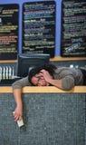 Τονισμένος έξω ιδιοκτήτης καφέδων Στοκ Εικόνα